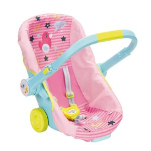 Baby Born Travel Seat Travel Chair Carrier For Dolls Pink & Blue Toy 3+