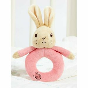 Peter Rabbit My First Ring Rattle Beatric Potter Flopsy Bunny Baby Toy - Pink