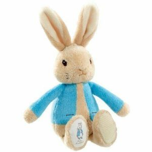 Peter Rabbit My First Bean Bag Soft Rattle Beatric Potter Baby Toy - Blue