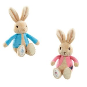 Peter Rabbit & Flopsy Bunny My First Bean Bag Soft Rattle Baby Toy Bundle of 2
