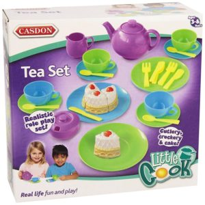Casdon Childrens Kitchen Little Cook Teaset Tea Set Playset Toy