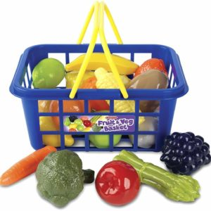 Casdon Pretend Play Little Shoper Fruit Basket Supermarket Shop Toy Playset