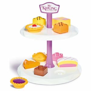 Casdon Little Cook Mr Kipling Cake Stand Double Tier Shape Sorter Toy Playset 3+