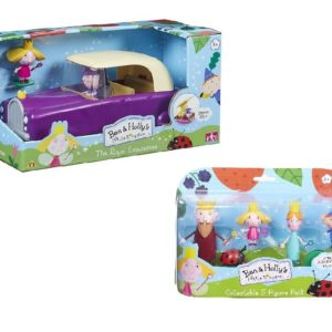 Ben and Holly Little Kingdom Limousine & Figures Toy Playset Bundle