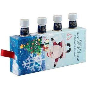 Christmas Themed Hot Chocolate Mix Pack of 4 Assorted Flavours Hot Choc