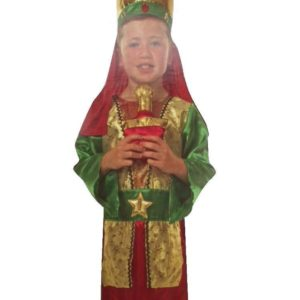 Childrens Boys Christmas Nativity 'We Three Kings' Fancy Dress Outfit Green
