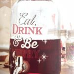 Christmas World 'Eat Drink Be Merry' Xmas Glass Drinks Dispenser With Tap