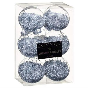 Christmas World Luxury Traditional Xmas Tree Baubles Pack of 6