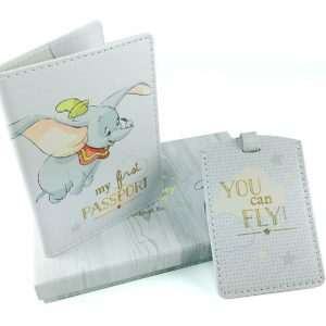 Disney Baby Dumbo Passport Cover and Luggage Tags Tag Set Pass Port