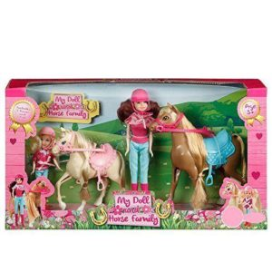 Kids My Doll & Horse Family Playset 2 Ponies & 2 Dolls Gift Set Age 3+