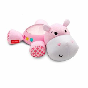 Fisher Price Hippo Plush Projection Soother Baby Nightlight Light Projector Pink