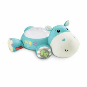 Fisher Price Hippo Plush Projection Soother Baby Nightlight Light Projector Blue
