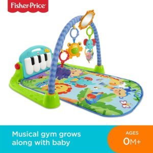 Fisher Price Deluxe Kick & Play Piano Gym Interactive Baby Playset 0-36 Months
