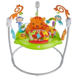 Fisher Price Baby Rainforest Jumperoo Activity Center Playset Music & Lights