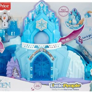 Fisher Price Little People Disney Frozen Elsa Ice Palace Musical Lights Playset
