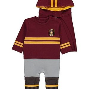George Harry Potter Quidditch Baby Babies All-in-One with Hat and Hooded Cape