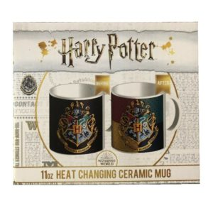 Harry Potter Heat Colour Changing Ceramic Mug Gryffindor Tea Coffee Cup Gift Set