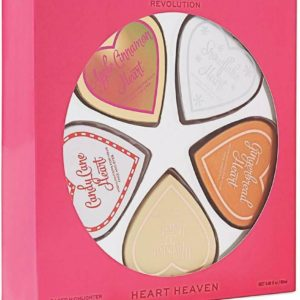 Heart Heaven Set of 5 Baked Highlighter Face & Eyes Make Up Gift Set