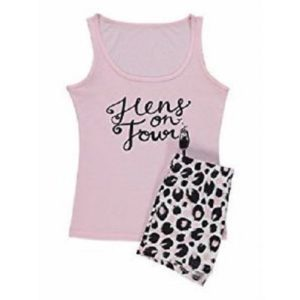 George Hens On Tour Pink Pyjamas Vest Top & Shorts