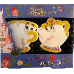 Disney Beauty & The Beast Lip Balm & Keyring Duo Gift Set