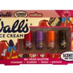 Walls Ice Cream Scented Nail Polish Pack of 4 Polishes 4ml Each Gift Set