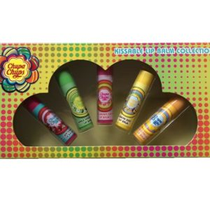 Chupa Chups Pack of 5 Sweet Flavour Lip Balms Lips Smacker Balm Gift Set