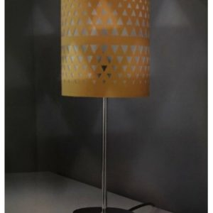 Cut Out Table Lamp Tablelamp Contemporary Home Base & Shade 39cm - Mustard