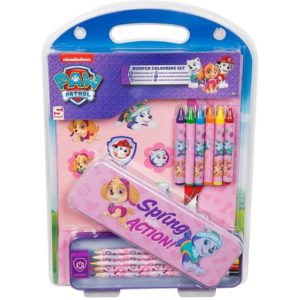 Nickelodeon Kids Paw Patrol Bumper 15 Piece Stationery Pencil Case School Set