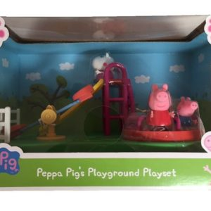Peppa Pig Peppa's Playground Toy Playset With Figures & Sound