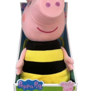 Peppa Pig Busy Bee Peppa Large Soft Plush Cuddly Toy 29cm Tall 18m+