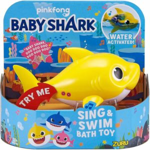 Baby Shark Sing & Swim Bath Toy Water Activated Robo Fish Playset Pinkfong