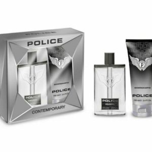 Police Contemporary Aftershave Spray & Shower Gel Shampoo Boxed Gift Set for Men