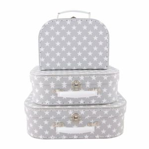 Sass & Belle Set of 3 Nordic Star Suitcases Storage Boxes Suit Case
