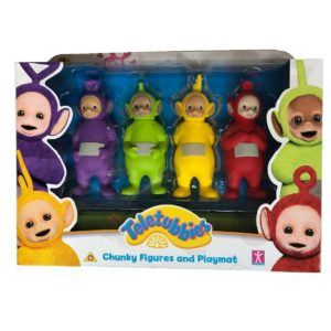 Teletubbies Chunky Figures & Playmat Teletubby Action Figure Set of 4 Playset
