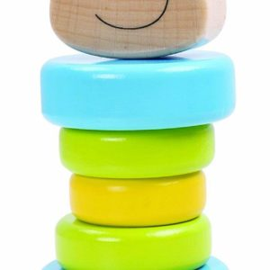 Tooky Toys Childrens Wooden Bear Rattle Toy Playset Age 6m+