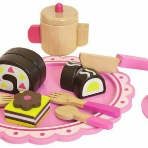 Tooky Toys Childrens Afternoon Tea Wooden Playset & Accessories Toy Set