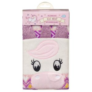 Unicorn Themed Reusable Heat Wrap Scarf Microwave Warming Scented