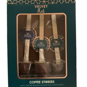 Coffee Lollipop Stirrers Pack of 3 Mocha Chocolate Drink Dippers Gift Set