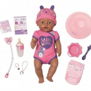 Zapf Creation Baby Born Deluxe Interactive Soft Touch Girls Doll Brown Eyes