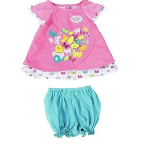 Zapf Creation Baby Born Baby Doll Outfit Dress Butterfly Detail - Pink
