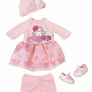 Baby Annabell Deluxe Knit Outfit Boxed Set For Dolls Zapf Creation Hat Shoes