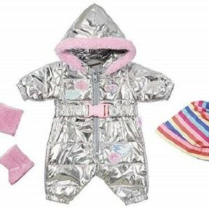 Zapf Creation Baby Born Deluxe Trend Snowsuit Doll Outfit Set For 43cm Dolls