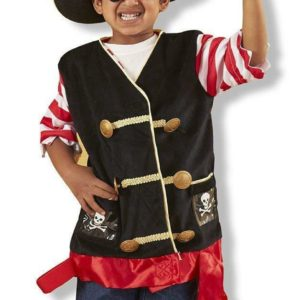 Melissa & Doug Pirate Role Play Kids Fancy Dress Costume Set Book Day 3-6 Years