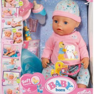 Zapf Creation Deluxe Baby Born Soft Touch 43cm Girl Doll Playset & Accessories