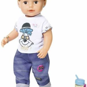 Zapf Creation Deluxe Baby Born Brother Soft Touch 43cm Doll & Accessories