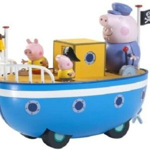 Peppa Pig Peppa's Grandpa Pig's Push & Go Boat Toy Playset & 3 Figures