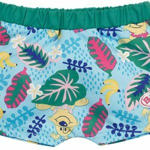 Baby Born Swim Shorts Swimming Outfit For 43cm Dolls Zapf Creation - Leaves