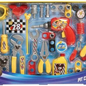 Disney Junior Mickey Mouse Roadster Racers Pit Crew Play Tools Kit 50 Pieces