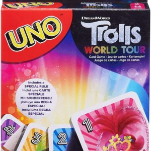 Mattel Uno Trolls World Tour Edition Family Fun Classic Card Game UNO Cards Set