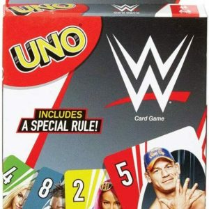 Mattel Uno WWE Wrestling Edition Family Fun Classic Card Game UNO Cards Set